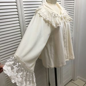 Hopeless Romantic Intimates & Sleepwear - Hopeless Romantic Victorian bed jacket Lace S/M